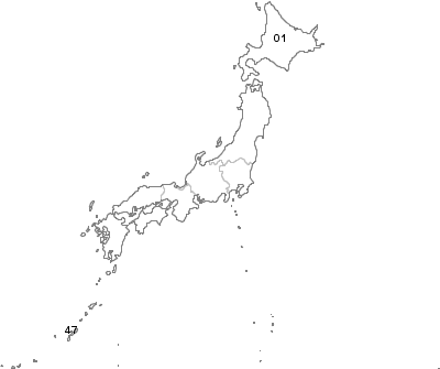 Postal Codes Japan - Japan map png