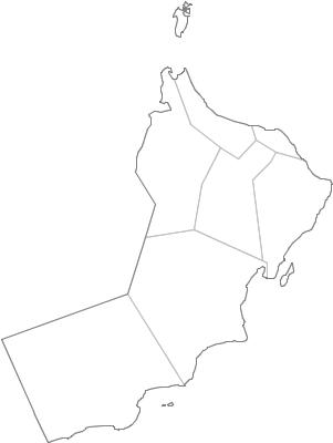 Administrative Division Of Oman - Oman map png