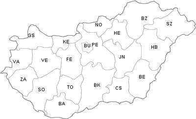 Postal Codes Hungary