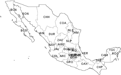 La Mesa Zip Code Map.Postal Codes Mexico